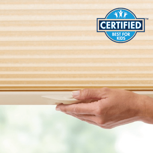 LIFT & LOCK™ CORDLESS LIFT FOR HONEYCOMB and PLEATED SHADES